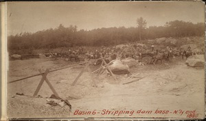 Sudbury Department, Hopkinton Dam, stripping base of dam site, northerly end, Ashland, Mass., 1890