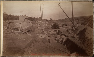 Sudbury Department, Hopkinton Dam, trench for 48-inch outlet pipe, Ashland, Mass., 1890