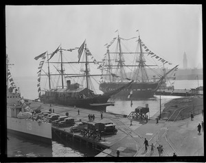 USS Constitution and SS Nantucket