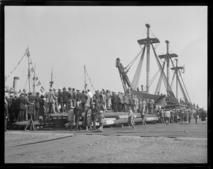 Crowd at USS Constitution berth in Charlestown Navy Yard