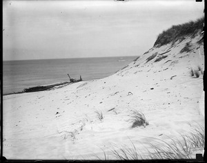 Cape Cod sand dunes and ship wrecked