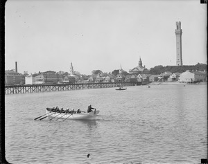 Lifeboat drill in Provincetown Harbor