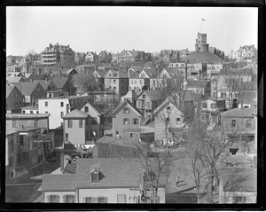 Bird's eye view of Prospect Hill from Union Square Fire Station tower, Somerville