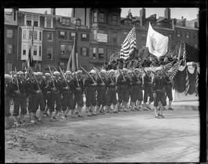 U.S. sailors marching