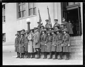 General Edwards with Girl Scouts