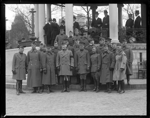 Gen. Edwards and staff at Parkman Bandstand on Boston Common