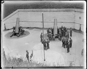 "12"" mortars, battery Frank Whitman, Fort Andrews on Peddock's Island"