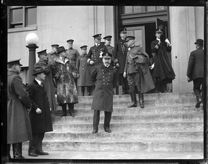 Admiral Wiley and others from the Navy Yard visit South Boston army base to greet Gen. Edwards
