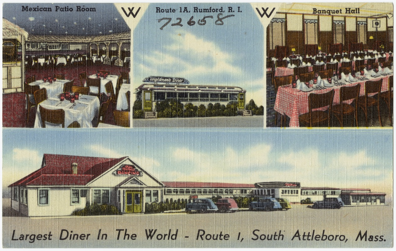 Largest diner in the world -- Route 1, South Attleboro, Mass.