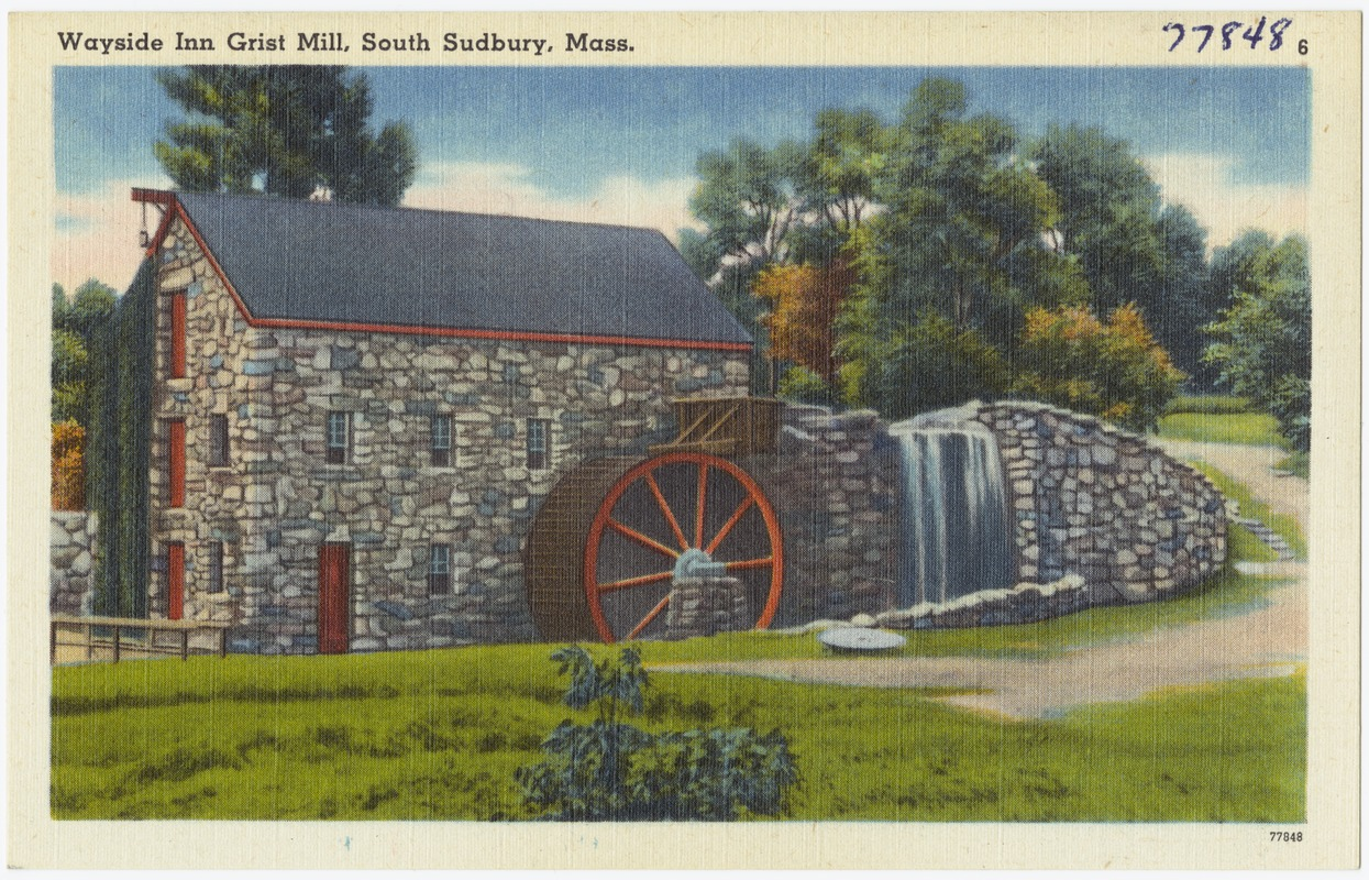 Wayside Inn, Grist Mill, South Sudbury, Mass.