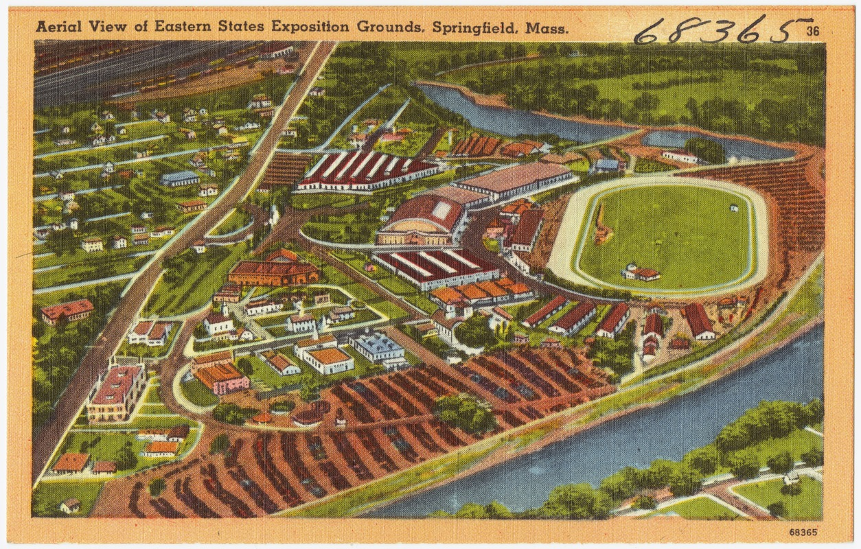Aerial view of Eastern States Exposition Grounds, Springfield, Mass.
