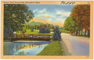 Nature trail, Forest Park, Springfield, Mass.