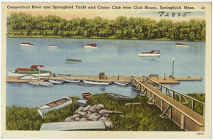 Connecticut River and Springfield Yacht and Canoe Club from club house, Springfield, Mass.