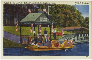 Paddle boats on Porter Lake, Forest Park, Springfield, Mass.