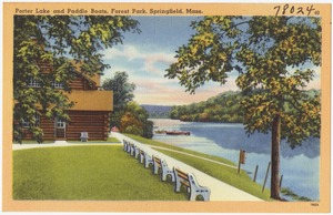 Porter Lake and paddle boats, Forest Park, Springfield, Mass.
