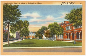 Quadrangle, rear of library, Springfield, Mass.