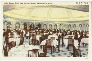 Main dining hall, New Ocean House, Swampscott, Mass.