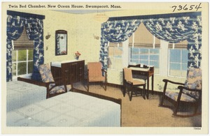 Twin bed chamber, New Ocean House, Swampscott, Mass.