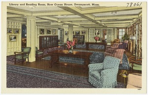 Library and reading room, New Ocean House, Swampscott, Mass.