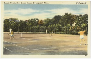 Tennis courts, New Ocean House, Swampscott, Mass.