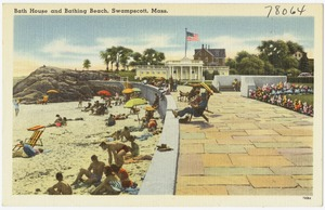 Bath house and bathing beach, Swampscott, Mass.
