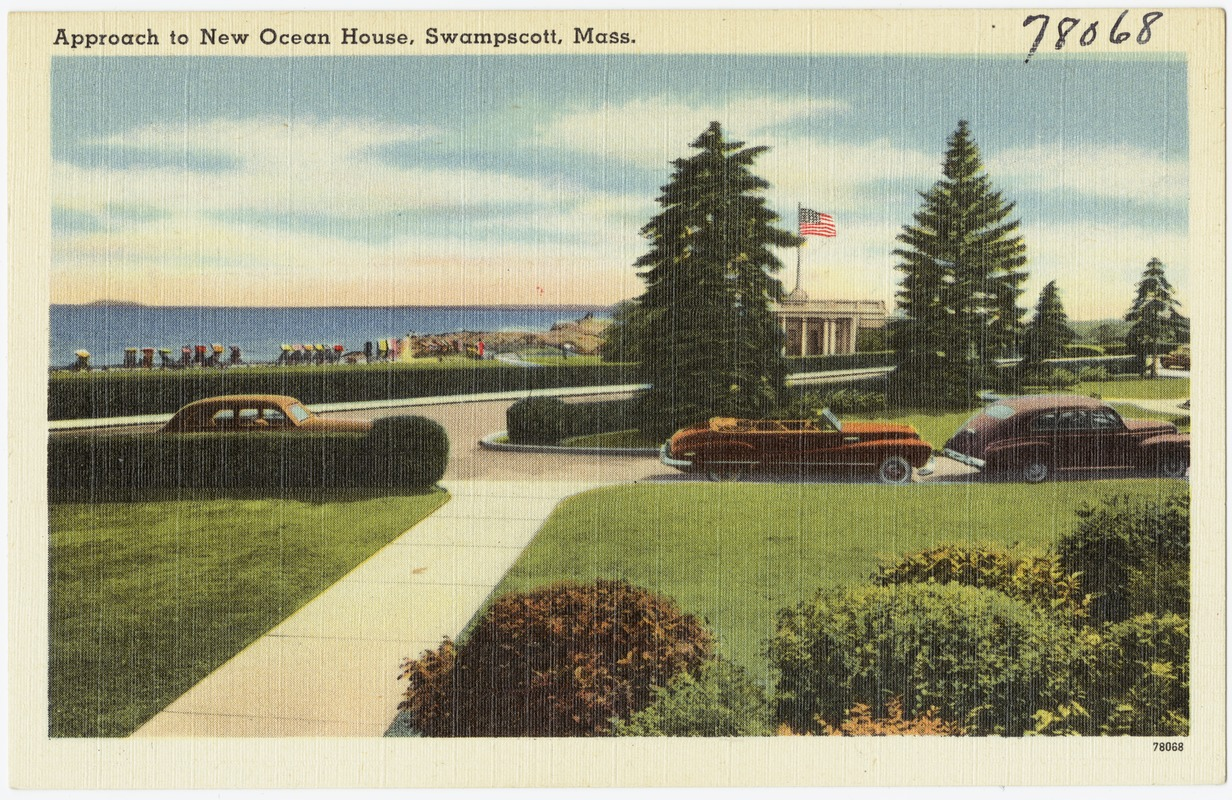 Approach to New Ocean House, Swampscott, Mass.