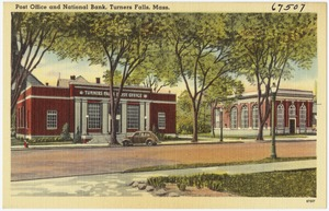 Post office and National Bank, Turners Falls, Mass.