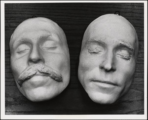 Sacco Vanzetti death masks - front view