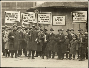 Sacco Vanzetti demonstration, March 1, '25