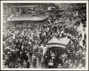 Scollay Square crowds, day of Sacco funeral, Aug. 29, 1927