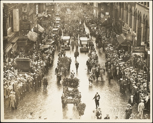Start of procession - Scollay Square, Boston, Mass., 28 August 1927