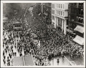 Sacco funeral proceeds down Tremont St., Aug 28, 1927