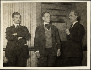 Fred H. Moore (right), Chief Counsel of the Sacco-Vanzetti defense, 1920-1924