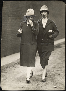 Mrs. Sacco and Miss Vanzetti after last visit to doomed kin.