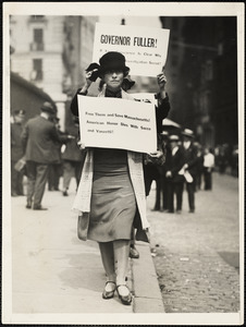 Famous woman poet as Sacco picketer