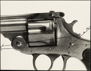 Vanzetti revolver, Ex 27 as photographed about Jan'y 15 1924