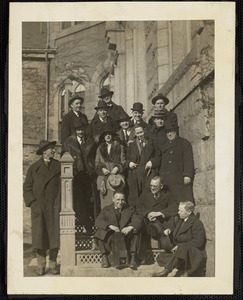 Unidentified group of people; Dedham. Mass.