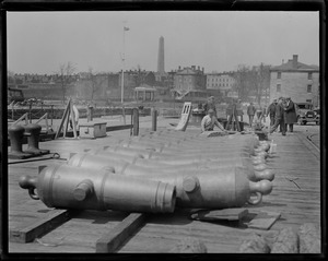 Cannons off USS Constitution in Navy Yard