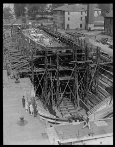 USS Constitution in Navy Yard drydock