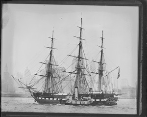 USS Constitution entering New York harbor
