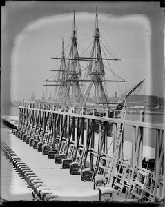 USS Constitution in Navy Yard after snowstorm