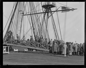USS Constitution at Navy Yard before she was remodeled.