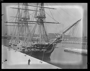 USS Constitution in Navy Yard after blizzard
