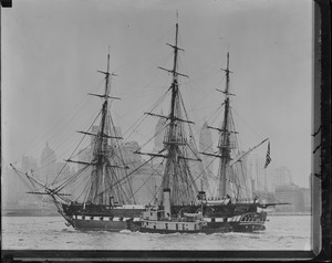 USS Constitution entering N.Y. harbor
