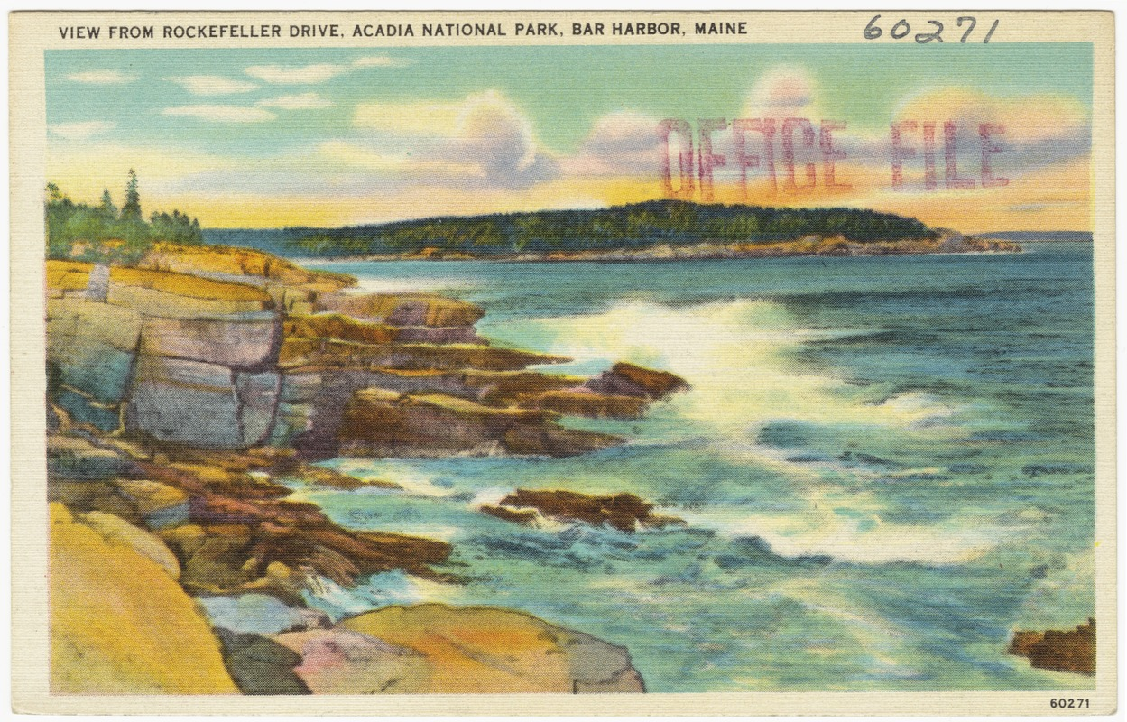 View from Rockefeller Drive, Acadia National Park, Bar Harbor, Maine