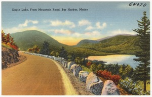 Eagle Lake, from Mountain Road, Bar Harbor, Maine