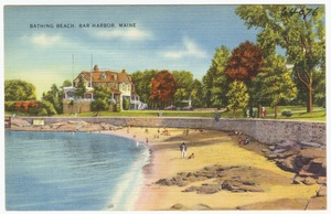 Bathing beach, Bar Harbor, Maine