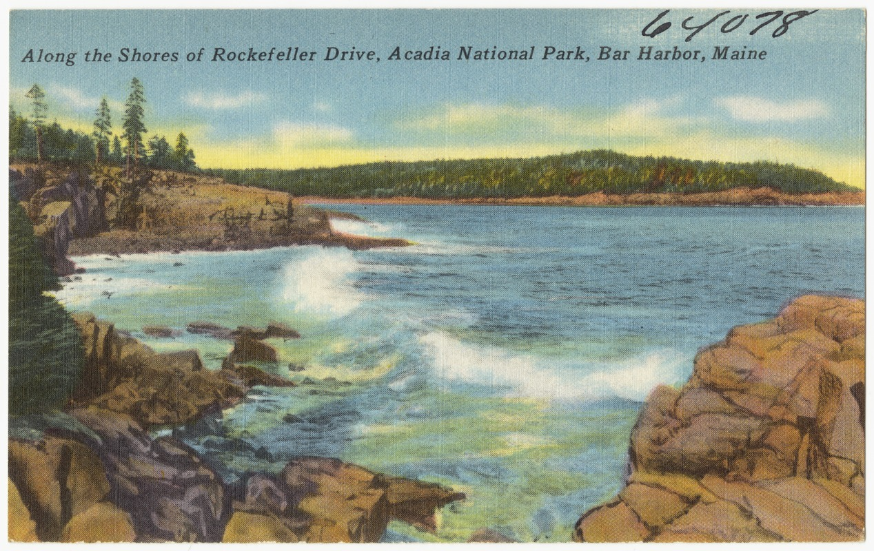 Along the shores of Rockefeller Drive, Acadia National Park, Bar Harbor, Maine