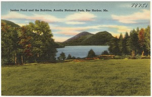 Jordon Pond and the Bubbles, Acadia National Park, Bar Harbor, Me.