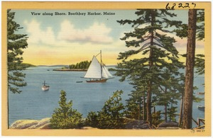 View along shore, Boothbay Harbor, Maine